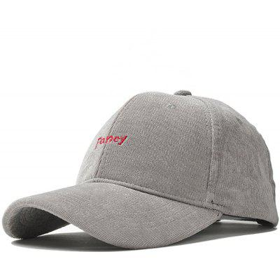 Outdoor Faney Pattern Embroidery Corduroy Baseball Hat