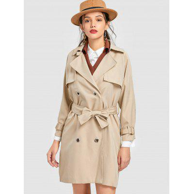 Studded Snap-button Trench Coat