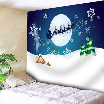 Christmas Sled Printed Wall Hanging Tapestry
