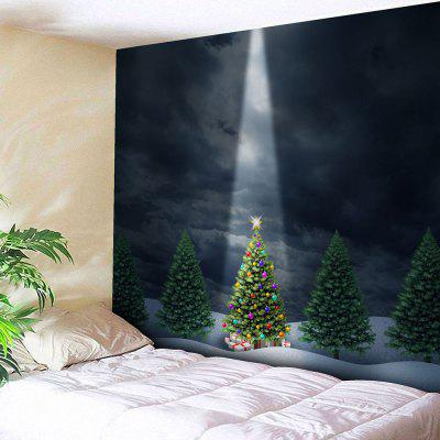 Wall Hanging Christmas Tree Print Bedroom Tapestry