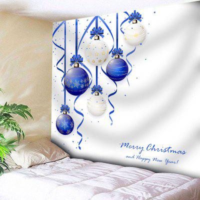 Wall Decor Christmas Balls Print Tapestry