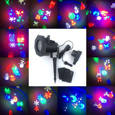 12 Cards Chargable Christmas LED Projector Lamp