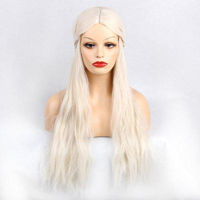 Long Middle Part Braided Natural Wavy Synthetic Wig