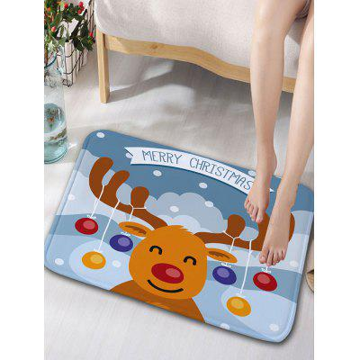 Buy Christmas Cartoon Deer Print Skidproof Flannel Bath Mat, COLORMIX, Home & Garden, Home Textile, Carpets & Rugs for $12.83 in GearBest store