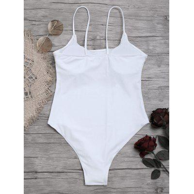 High Cut Cami One Piece SwimwearLingerie &amp; Shapewear<br>High Cut Cami One Piece Swimwear<br><br>Bra Style: Padded<br>Elasticity: Elastic<br>Gender: For Women<br>Material: Chinlon<br>Neckline: Spaghetti Straps<br>Package Contents: 1 x Swimwear<br>Pattern Type: Solid Color<br>Support Type: Wire Free<br>Swimwear Type: One Piece<br>Waist: Natural<br>Weight: 0.2200kg