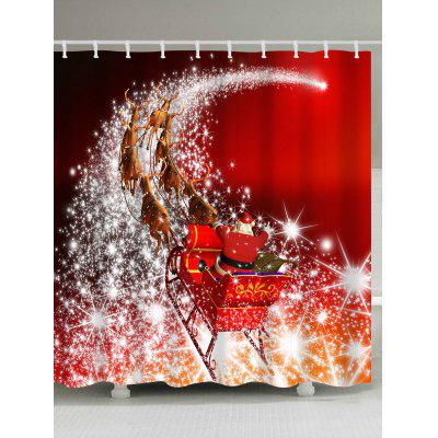 Merry Christmas Santa Coming Waterproof Barhroom Shower Curtain