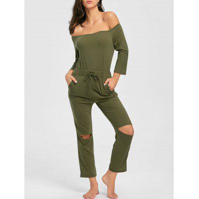 Rodilla Ripped Off The Shoulder Jumpsuit