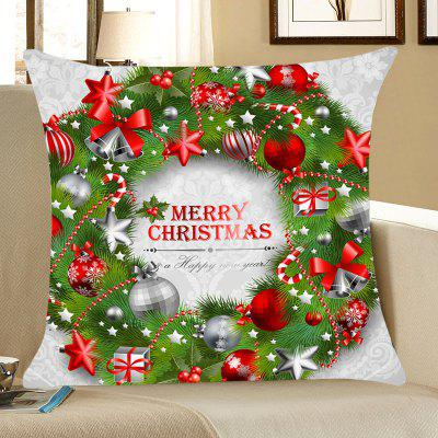 Christmas Garland Pattern Throw Pillow Case