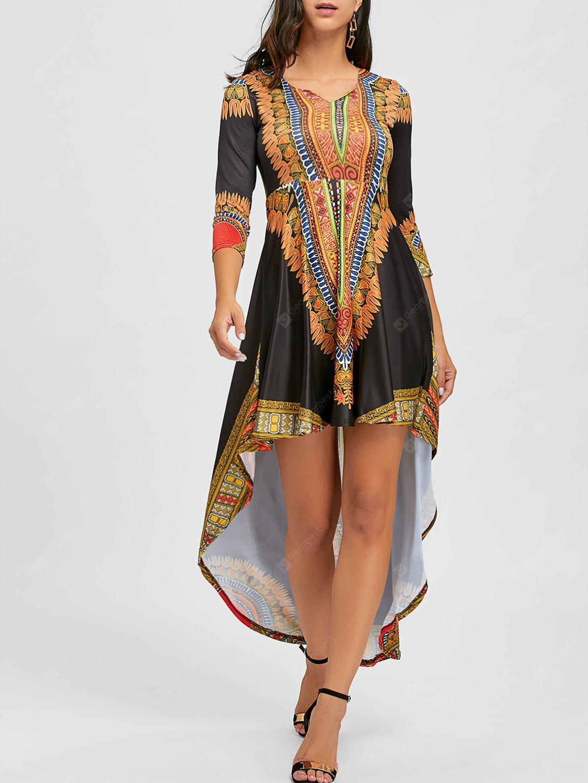 Ethnic Printed High Low Dress