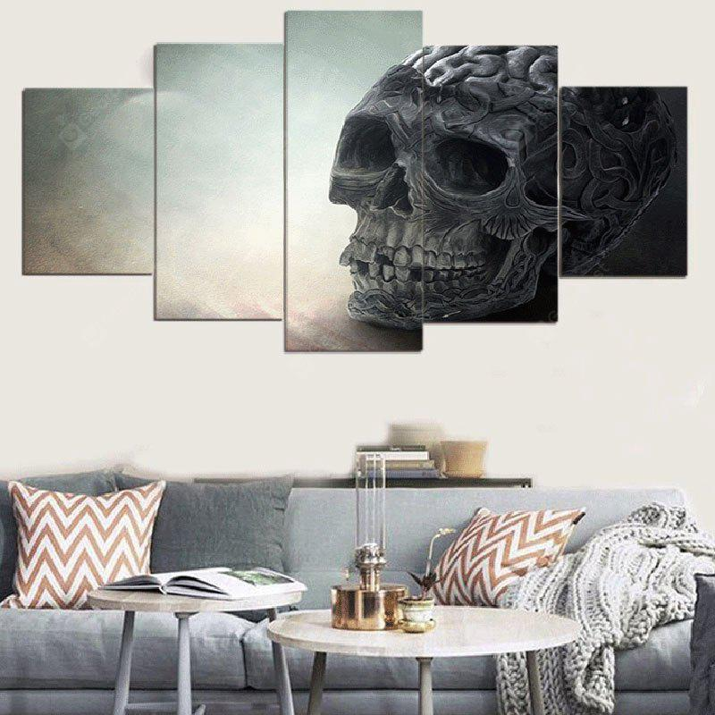 Skull Pattern Unframed Split Canvas Paintings