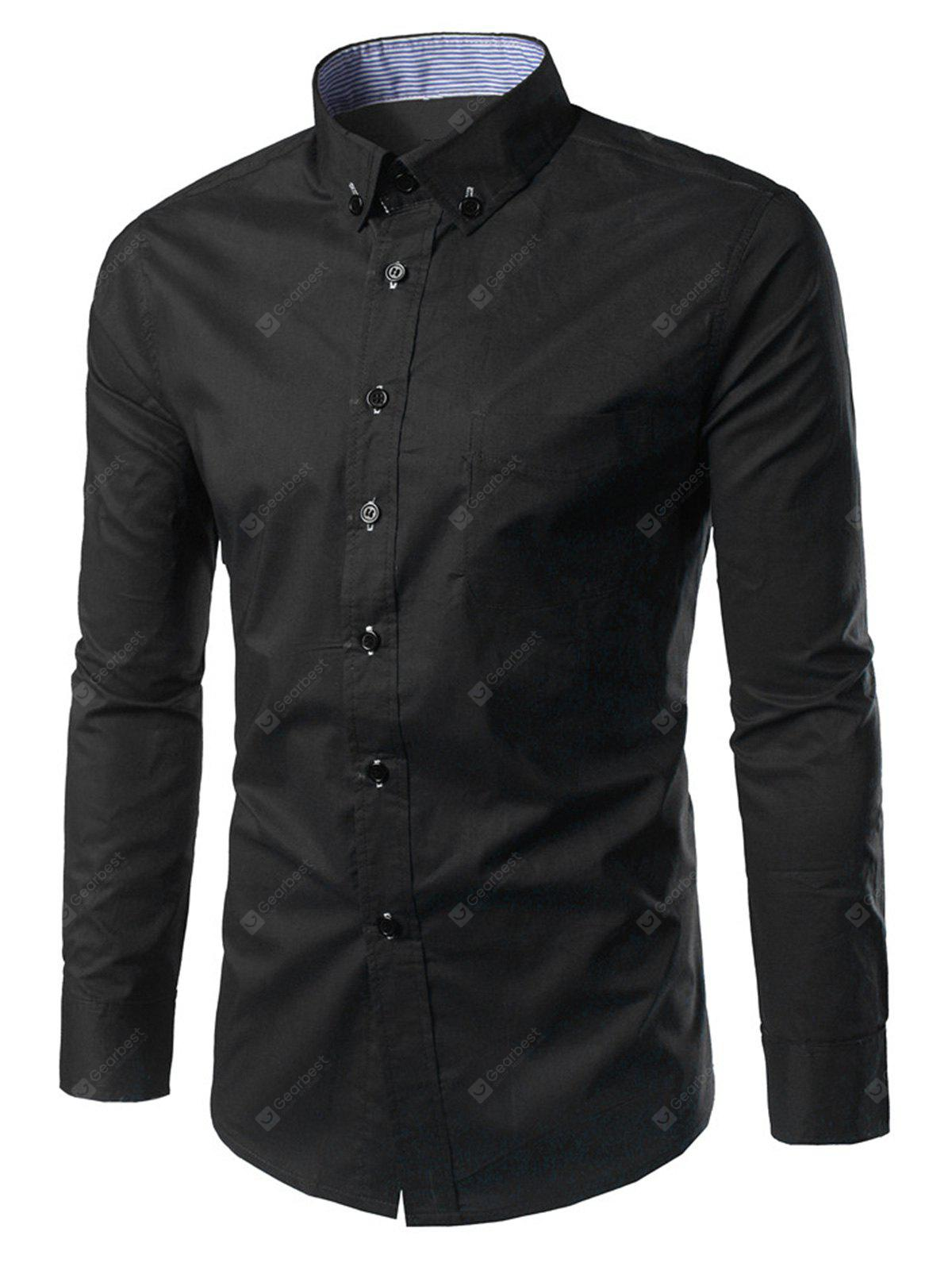 Slim Fit Button Down Casual Shirt