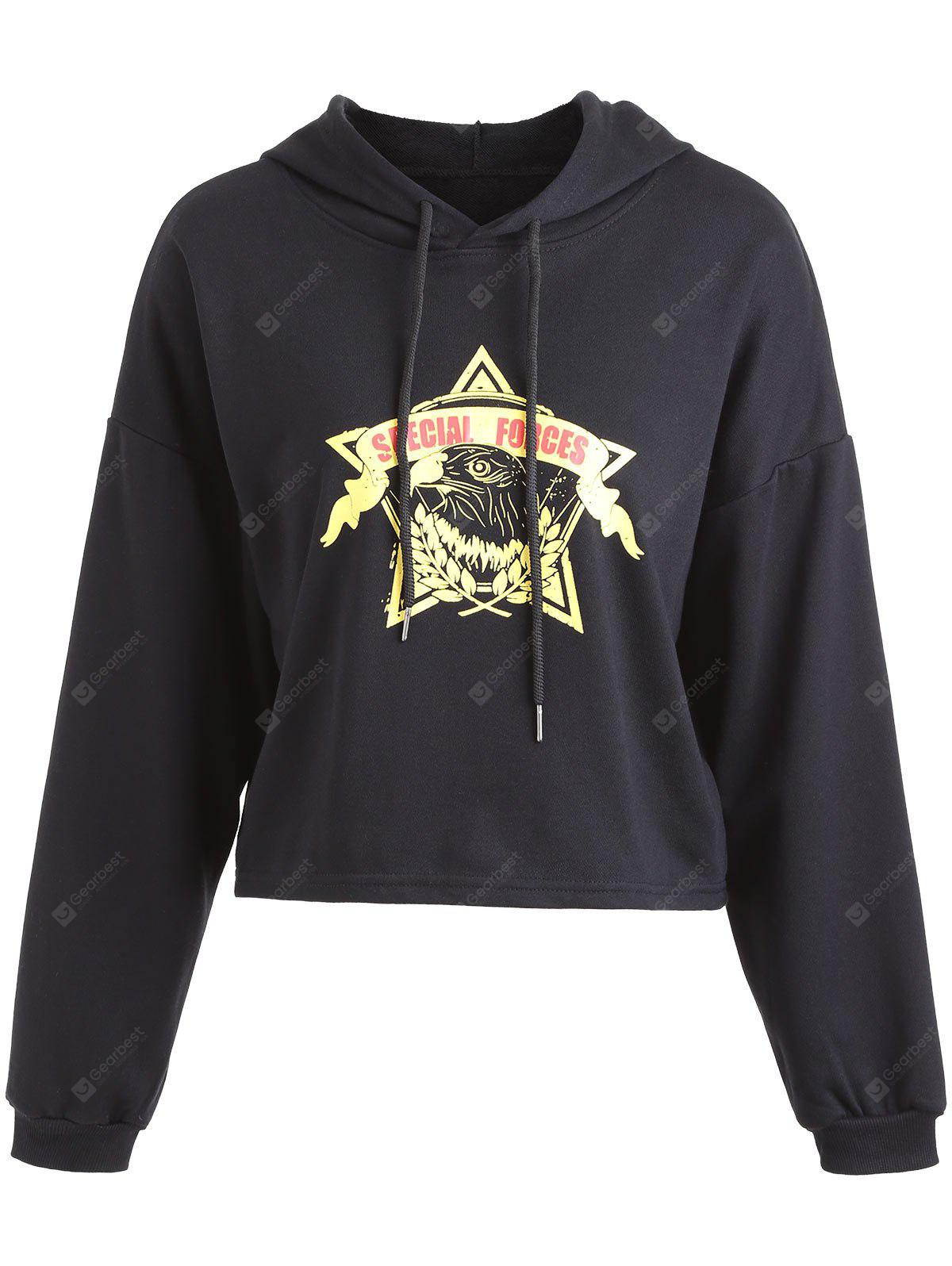 Drop Shoulder Graphic Pullover Hoodie
