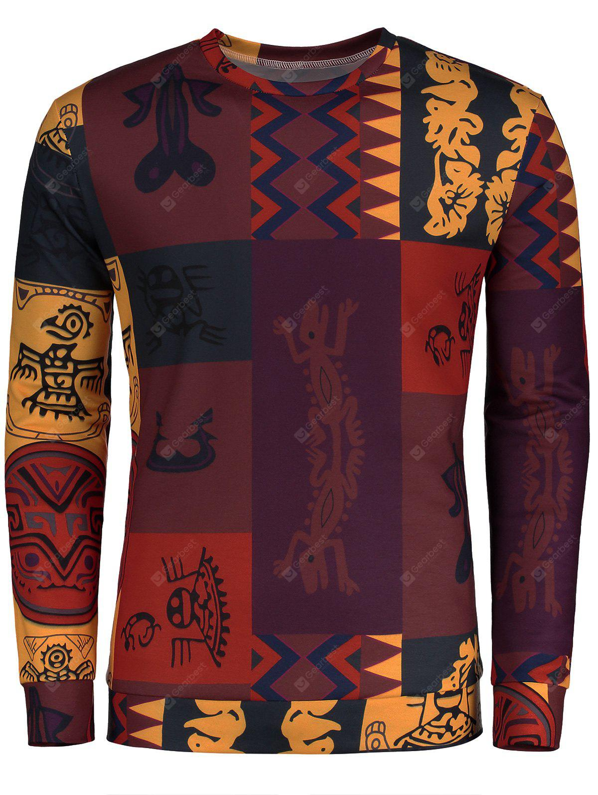 Totem Ethnic Printed Long Sleeve T-shirt