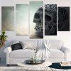 Skull Pattern Unframed Split Canvas Paintings - GRIS