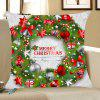 Christmas Garland Pattern Throw Pillow Case - WHITE AND GREEN