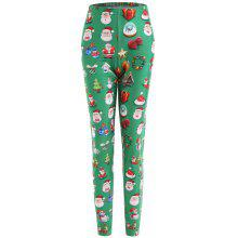 Christmas Snowman Santa Claus Plus Size Leggings
