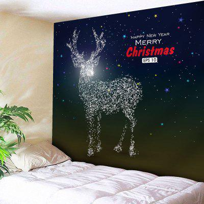 Christmas Deer Print Wall Hanging Tapestry