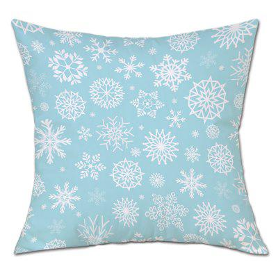 Snowflake Print Christmas Linen Pillowcase