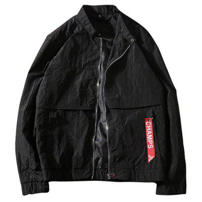 Zip Up Windbreaker Jacket para Hombres