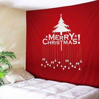Buy RED Wall Hanging Art Merry Christmas Tree Print Tapestry for $22.30 in GearBest store