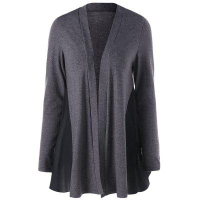 Open Front Cardigan with Panel
