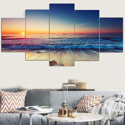 Sunset Seascape Pattern Canvas Wall Art Paintings
