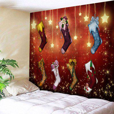 Wall Hanging Christmas Stockings Print Tapestry