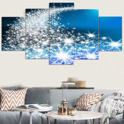 Christmas Star-spangled Road Pattern Canvas Paintings