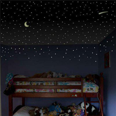 Buy Luminous Starry Moon Night Pattern Wall Sticker, GREEN, Home & Garden, Home Decors, Wall Art, Wall Stickers for $2.74 in GearBest store