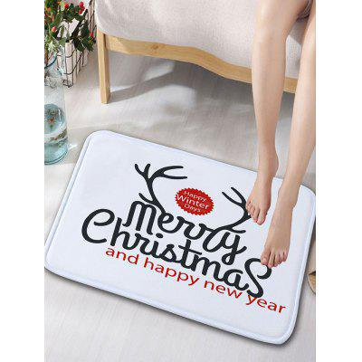 Buy Christmas Letter Print Flannel Skidproof Bath Rug, WHITE, Home & Garden, Home Textile, Carpets & Rugs for $12.83 in GearBest store