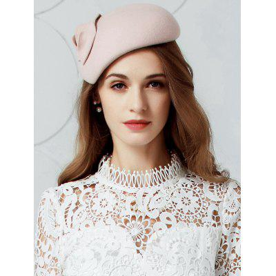 Vintage Leaf Embellished Artificial Wool Pillbox Hat