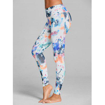 Ink Tie Dye Yoga Leggings