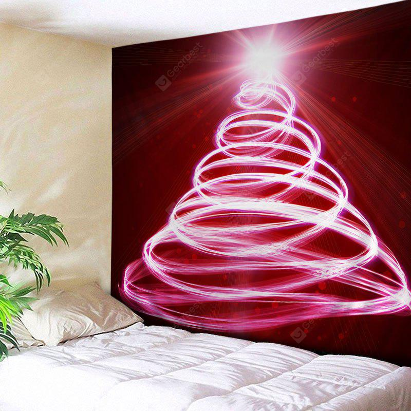 Wall Hanging Art Christmas Lights Tree Print Tapestry