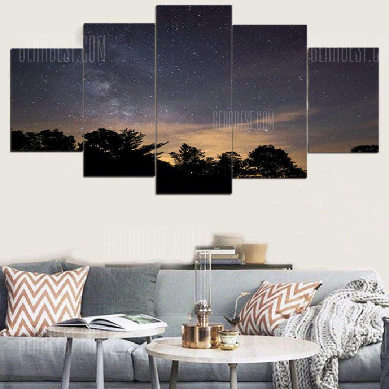 Starry Night Printed Wall Art Canvas Paintings