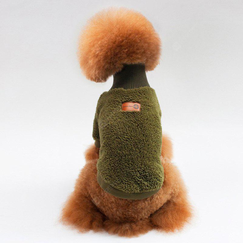 Coral Fleece Turtleneck Clothes for Dog