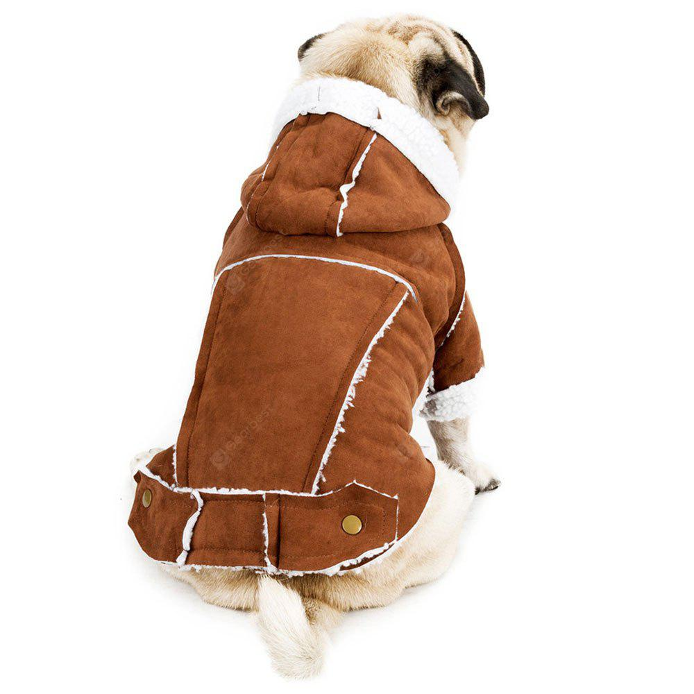 Berber Fleece Suedette British Style Hooded Clothes for Dog