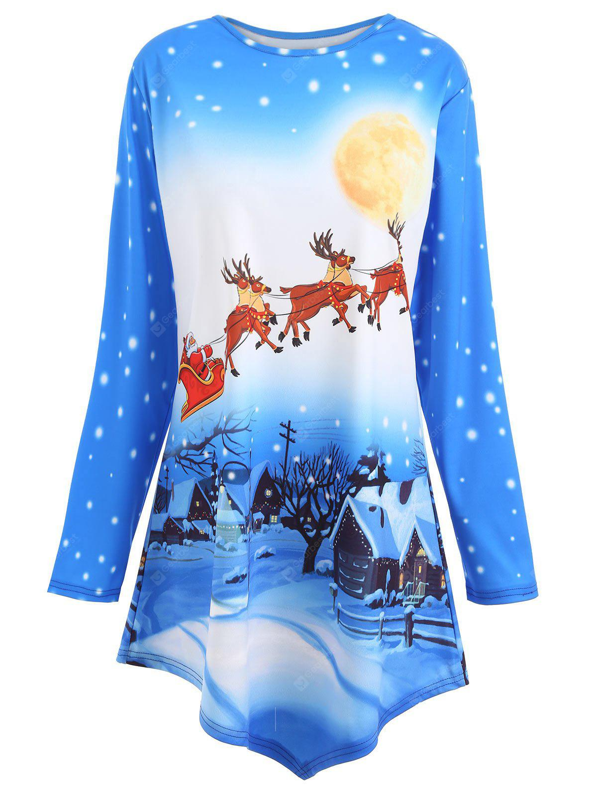 Plus Size Long Christmas Tunic Top