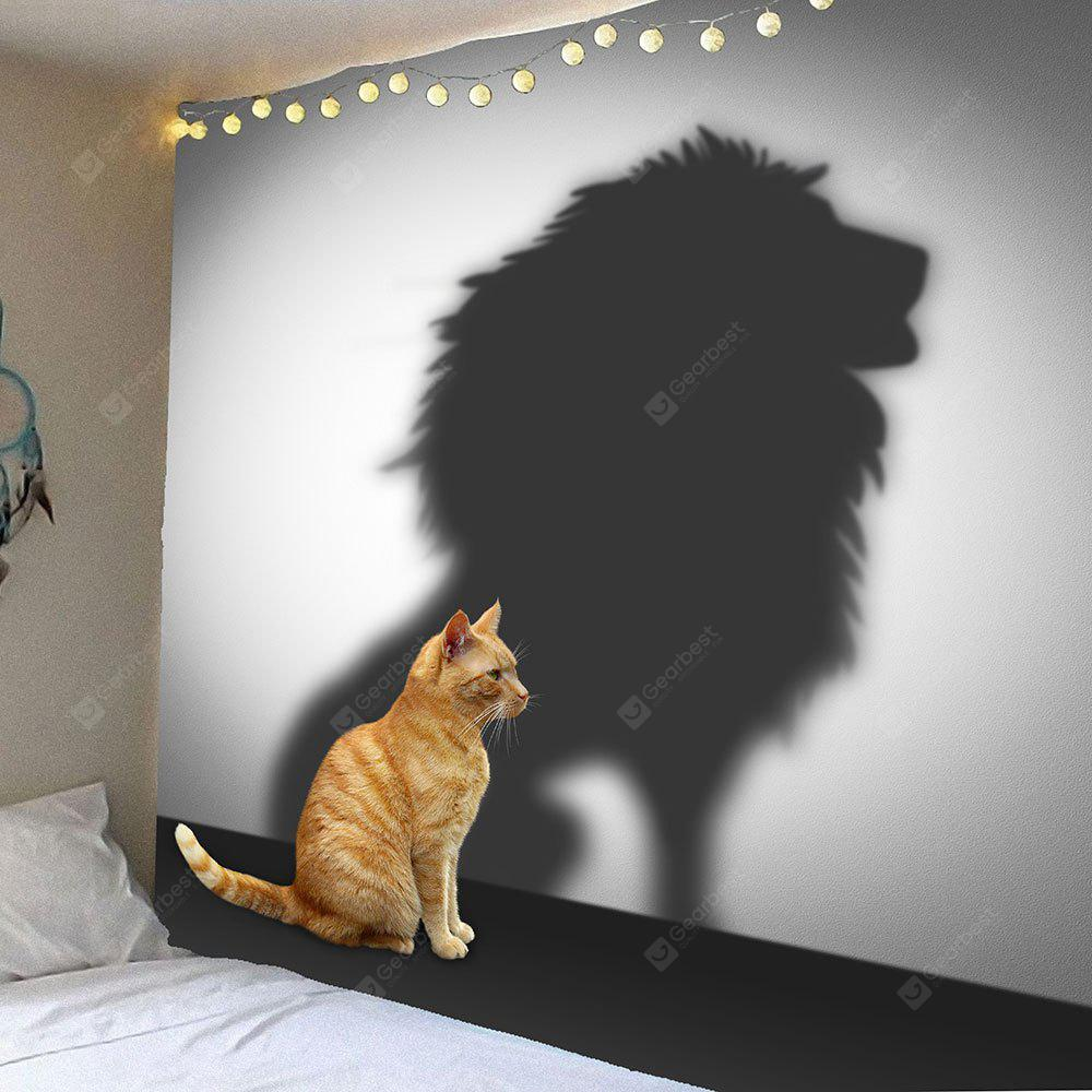 Cat And Lion Pattern Hanging Wall Art Tapestry