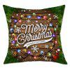 Christmas String Lights Print Funda de almohada de lino - COLORES MEZCLADOS