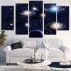 Galaxy Patterned Unframed Split Canvas Paintings - COLORMIX