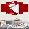 Santa Claus Pattern Wall Art Split Canvas Paintings - RED AND WHITE
