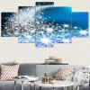 Christmas Star-spangled Road Pattern Canvas Paintings - BLUE AND WHITE