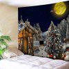 Wall Hanging Art Christmas Forest House Print Tapestry - COLORMIX