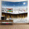 Wall Hanging Art Snowy Christmas House Print Tapestry - COLORMIX