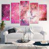 Galaxy Pattern Unframed Canvas Paintings - PINK