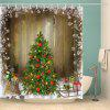 Hot Sale Waterproof Polyester 3D Merry Christmas Shower Curtain - COLORMIX