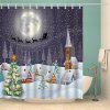 Snowing Night Fabric Waterproof Christmas Shower Curtain - COLORMIX