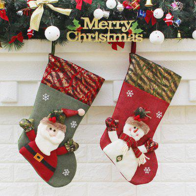 2Pcs Christmas Decorations Hanging Candy Socks
