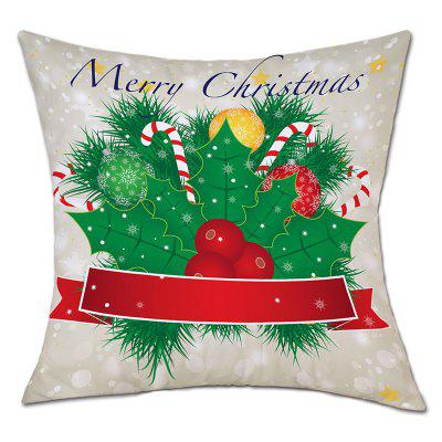 Christmas Baubles Fruit Print Linen Pillowcase