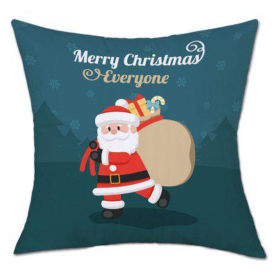 Christmas Santa Gift Bag Print Linen Pillowcase